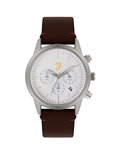 farah-farah-white-and-silver-detail-chronograph-dial-brown-leather-strap-mens-watch