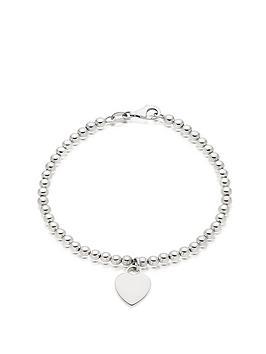 beaverbrooks-silver-ball-heart-bracelet