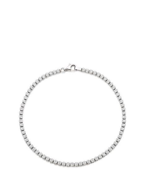 beaverbrooks-silver-cubic-zirconia-tennis-bracelet