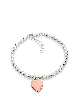 beaverbrooks-silver-and-rose-gold-plated-heart-ball-bracelet