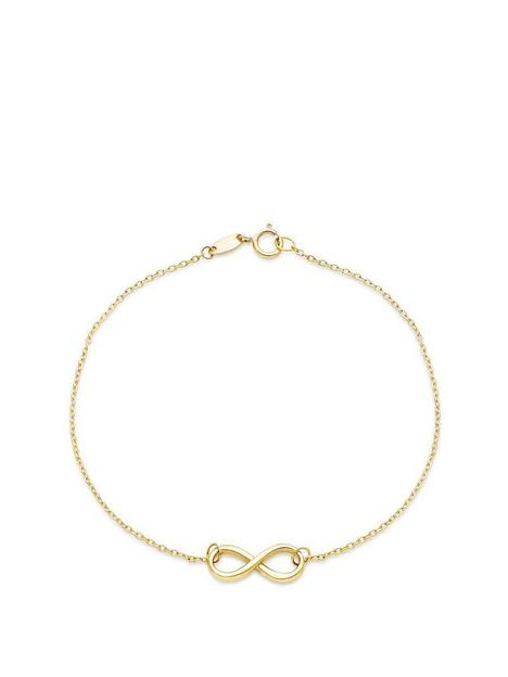 beaverbrooks-9ct-gold-infinity-bracelet