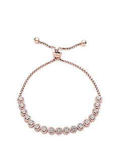 beaverbrooks-silver-rose-gold-plated-cubic-zirconia-halo-bracelet