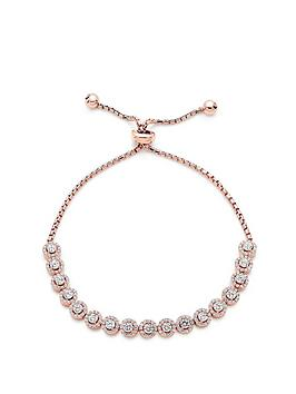 beaverbrooks-silver-rose-gold-plated-cubic-zirconia-halo-bracelet