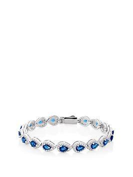 beaverbrooks-silver-blue-cubic-zirconia-pear-halo-bracelet