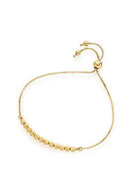 beaverbrooks-9ct-gold-ball-slider-bracelet