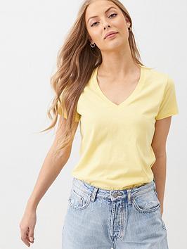 v-by-very-the-basic-v-neck-t-shirt-yellow
