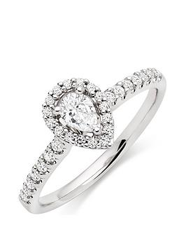 beaverbrooks-18ct-white-gold-diamond-pear-shaped-halo-ring