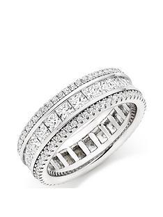 beaverbrooks-silver-cubic-zirconia-triple-row-ring