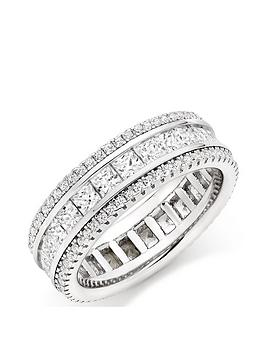 beaverbrooks-silver-cubic-zirconia-triple-row-ring