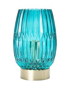 michelle-keegan-home-daphne-ribbed-touch-table-lamp-teal