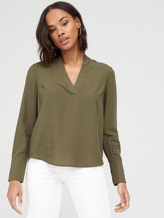 v-by-very-notch-neck-blouse-olive