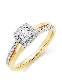 beaverbrooks-18ct-gold-diamond-halo-ring