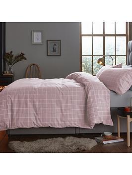 silentnight-contemporary-check-brushed-cotton-duvet-cover-set