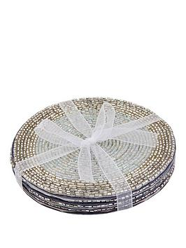 monsoon-4-pack-silver-sequin-coasters