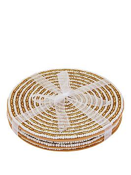 monsoon-4-pack-gold-sequin-coasters