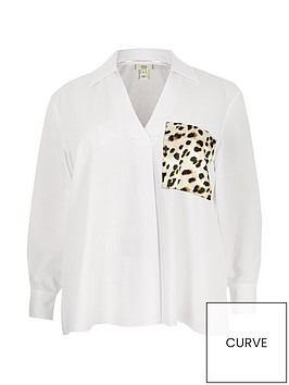 ri-plus-animal-print-pocket-shirt-white