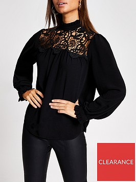 river-island-long-sleeve-lace-topnbsp--black