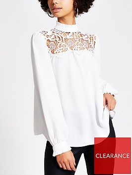 river-island-long-sleeve-lace-topnbsp--white