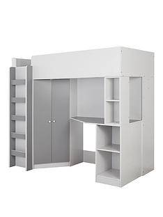 miami-fresh-high-sleeper-bed-with-desk-wardrobe-and-shelves-grey