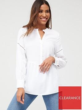 v-by-very-essential-ladder-trim-dropped-hem-shirt-ivory