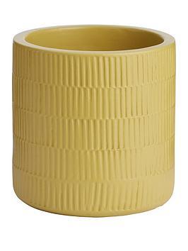 ceramic-ribbed-planter