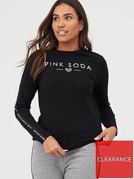 pink-soda-rowe-tape-tee-black