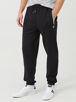 fred-perry-loopback-sweat-pants-black