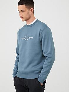 fred-perry-graphic-sweatshirt-blue