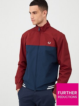 fred-perry-colour-block-sports-jacket-navy