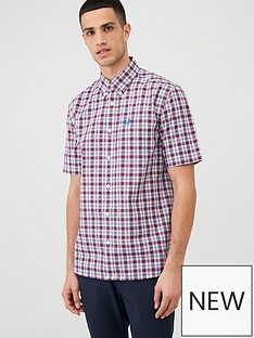 fred-perry-checked-shirt-red