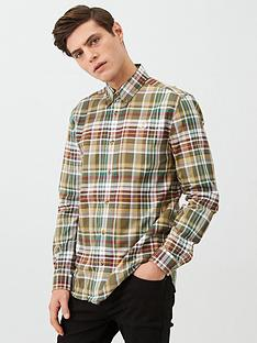 fred-perry-long-sleeved-tartan-shirt-green