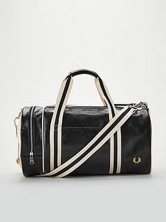 fred-perry-classic-barrel-bag-black