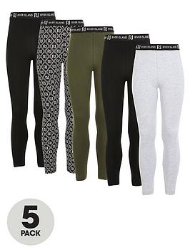 river-island-girls-5-pack-waistband-legging-multi