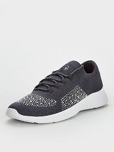 dune-london-easy-lace-up-trainer-grey