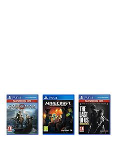playstation-4-ps4-bundle-dealnbspminecraft-the-last-of-us-ndash-remastered-and-god-of-war