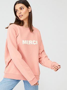 warehouse-merci-sweat-pink