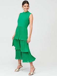 warehouse-warehouse-random-drop-print-micro-pleat-dress