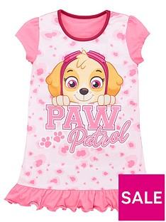 paw-patrol-girls-animal-print-nightie-multi