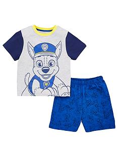 paw-patrol-boysnbspchase-t-shirt-and-short-pjs-multi