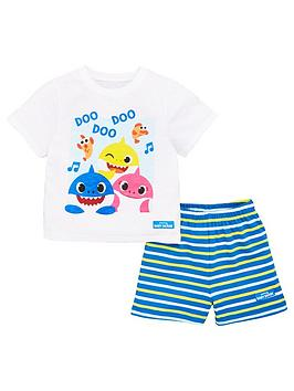 baby-shark-boysnbspt-shirt-and-stripe-short-pjs-multi