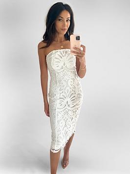 michelle-keegan-premium-lace-bandeau-midi-dress-ivory