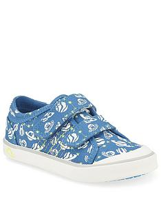 start-rite-boys-cosmic-canvas-strap-plimsoll
