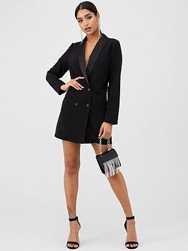 in-the-style-in-the-style-oversized-blazer-dress-black