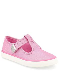 start-rite-girls-treasure-canvas-plimsoll-pink-glitter