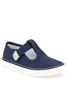 start-rite-boysnbsptreasure-canvas-plimsoll-navy