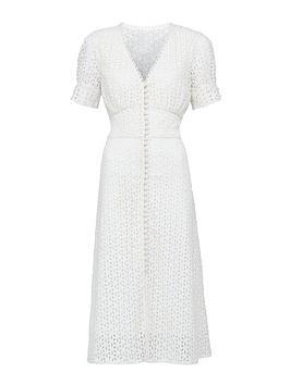 michelle-keegan-broderie-button-through-midi-dress-ivory