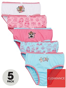 lol-surprise-girlsnbspknickers-5-pack-pink