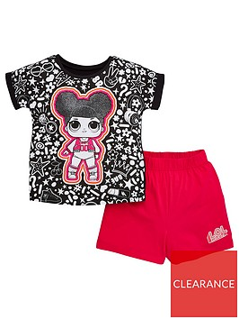 lol-surprise-girls-t-shirt-and-short-pjs-multi