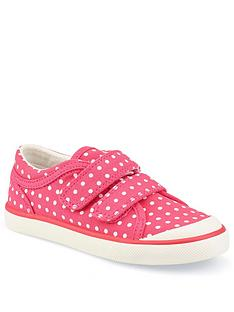 start-rite-girls-bounce-canvas-strap-plimsolls-pink