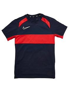 nike-boys-academy-gx-short-sleeved-t-shirt-navyred